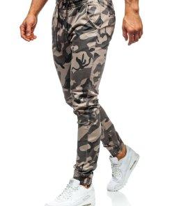 Pantaloni de trening camuflaj-bej Bolf KA351