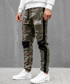 Pantaloni de trening bărbați camuflaj- neon Bolf 3782