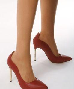 Pantofi stiletto Resume Rosii