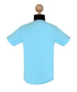 Infront Turquoise - Tricou Turcoaz Asimetric Din Bumbac