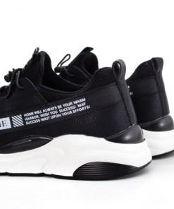 Pantofi sport Gardiner negri cu alb -rl