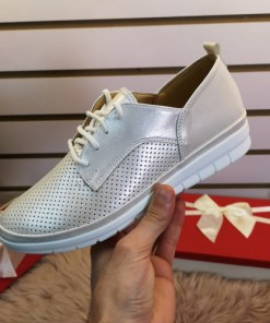 Pantofi Cisos argintii casual -rl
