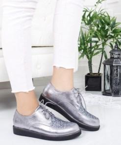 Pantofi Darsilo argintii casual