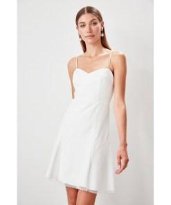 Rochie tulle Trendyol Ecru Polka-Dot tulle Detailed Dress 958170
