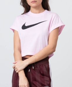 Nike Sportswear Swoosh Shortsleeve Crop Top Pink