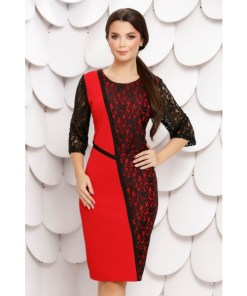 Rochie Milagros Red Black