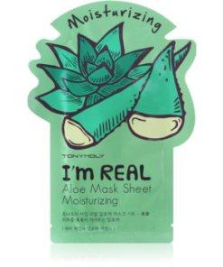 TONYMOLY I'm REAL Aloe mască textilă hidratantă