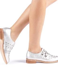 Pantofi dama Mundy argintii