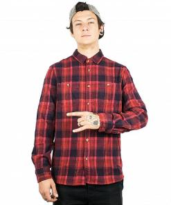 Camasa Ruskin Flannel red/navy