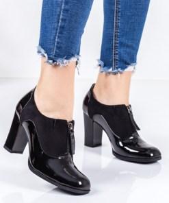 Pantofi dama cu toc negri Samania-rl