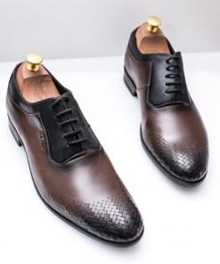 Pantofi piele barbati maro Viloni