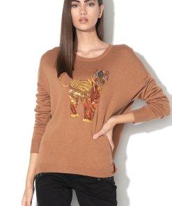 Pulover cu model tigru