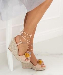 Sandale cu talpa ortopedica, roz