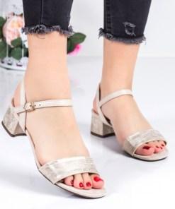 Sandale Hurita aurii cu toc -rl