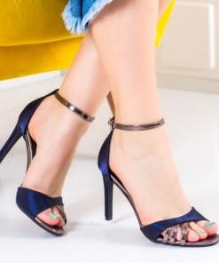 Sandale Liesi albastre cu toc-rl