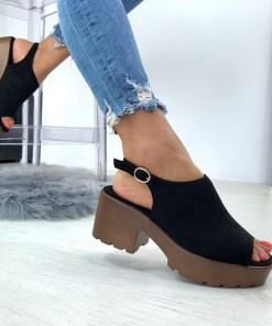 Sandale Turoda Negre #B4676