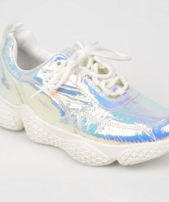 Pantofi sport FLAVIA PASSINI argintii, 18483, din piele naturala