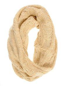 Fular bej tricotat