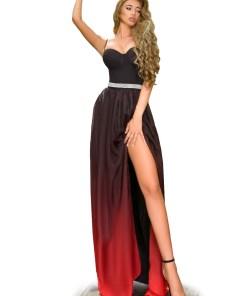 R664-115 Rochie eleganta cu crapatura pe picior