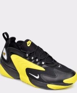 Pantofi sport NIKE, Zoom 2K negri, din material textil si piele naturala
