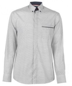 Camasa cu model Pierre Cardin Long Sleeve Printed Shirt Mens