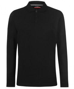 Tricou polo Pierre Cardin Plain Long Sleeve Polo Shirt Mens