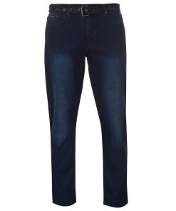 Blugi slim fit Pierre Cardin Web Belt Mens Jeans