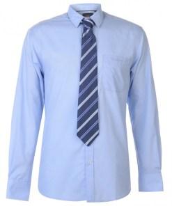Camasa business Pierre Cardin Long Sleeve Shirt Tie Set Mens