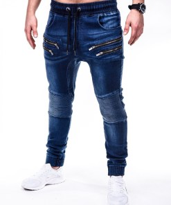 Blugi skinny fit Ombre Clothing Men's jeans joggers P405