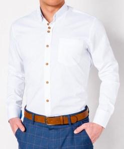 Camasa cu maneca lunga Ombre Clothing Men's elegant shirt with long sleeves K302