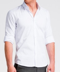 Camasa slim fit Ombre Clothing Men's slim shirt with long sleeves K504