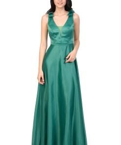 Rochie de ocazie verde cu funde HM2200 V