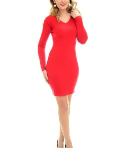 Rochie Tricotata Shimmering Red