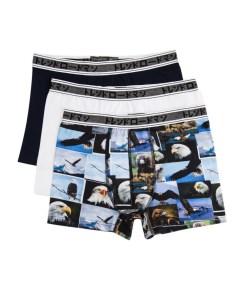 Boxeri Men's Boxers Trendyol 3 Pack Printed
