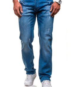 Jeansi pentru barbat albastru Bolf 4444