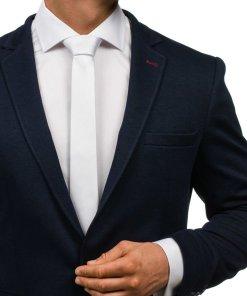 Cravata eleganta pentru barbat alba Bolf K001