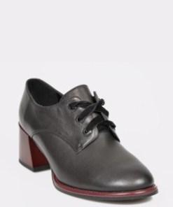 Pantofi EPICA negri, G357t51, din piele naturala