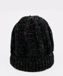 Caciula KLOP neagra, P317, din material textil