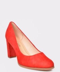 Pantofi CLARKS rosii, Kaylin Cara, din piele intoarsa