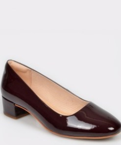 Pantofi CLARKS visinii, Orabella Alice, din piele naturala lacuita