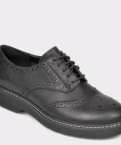 Pantofi CLARKS negri, Witcombe Echo, din piele naturala