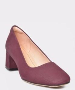 Pantofi CLARKS visinii, Sheer Rose, din piele naturala