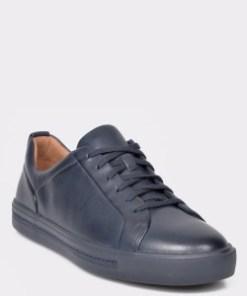 Pantofi CLARKS bleumarin, Un Maui Lace, din piele naturala