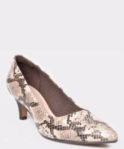 Pantofi CLARKS bej, Linvale Jerica, din piele naturala