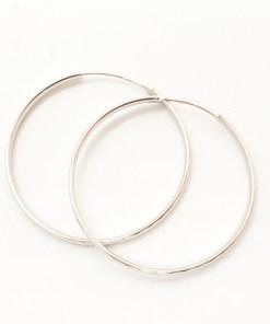 Creole 5 cm Silver din argint rodiat