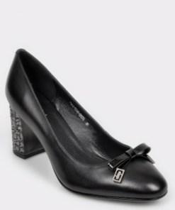 Pantofi EPICA negri, H3002s2, din piele naturala