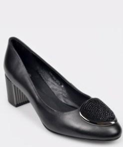 Pantofi FLAVIA PASSINI negri, H5304S2, din piele naturala