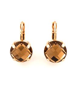 Cercei Jackie placati cu aur 24K - 1448A-221RG6