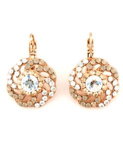 Cercei Champagne and Caviar placati cu aur 24K - 1526/2-391100RG6