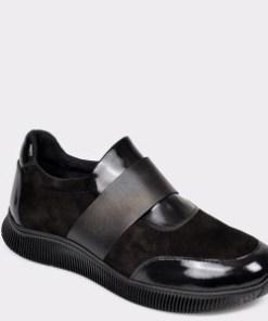 Pantofi FLAVIA PASSINI negri, 3224, din piele intoarsa
